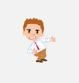 businessman in smart casual style shows very vector image vector image