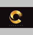 c gold golden letter modern trendy brush design vector image