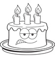 Cartoon Angry Birthday Cake vector image vector image