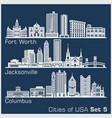 Cities usa - fort worth jacksonville columbus