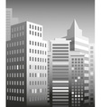 city skyscrapers vector image vector image