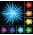 Color abstract firework vector image