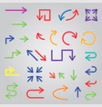 colored arrows set large collection of icons vector image vector image