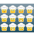 Cooking smile stickers set vector image
