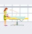 cosmetology beauty salon woman skincare vector image