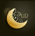 creative screscent moon with floral decoration vector image vector image