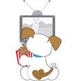 cute puppy tv vector image vector image