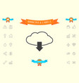 download from cloud vector image vector image