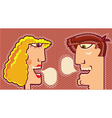 Faces Speaking and bubbles for text vector image vector image