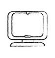 figure computer digital screen equipment vector image vector image
