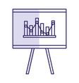 flipchart board isolated icon vector image vector image