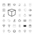 gift icons vector image vector image