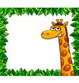 giraffe in woods vector image