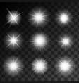glowing shining stars set vector image