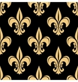 Gold and black french seamless pattern vector image