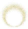 gold glitter wave abstract background vector image