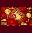 golden rat chinese new year zodiac animal vector image