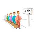 job seekers vector image