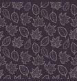 leaves seamless gray vector image vector image