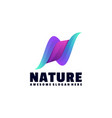 logo nature gradient colorful style vector image