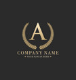 luxury business logo vector image vector image