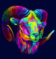 mountain sheep in pop art style vector image vector image