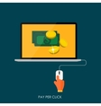 Pay Per Click Flat Concept for Web Marketing vector image vector image