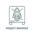 project drawing line icon linear concept vector image vector image