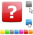 Question glossy button vector | Price: 1 Credit (USD $1)