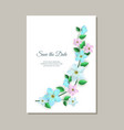 romantic wedding invitation vector image vector image