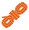 rope coil icon flat style vector image