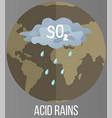save planet concept acid rains pollute land