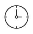 simple clock icon pixel perfect design editable vector image vector image