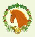 Sorrel horse head of stallion vector image vector image