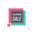 super sale isolated sticker vector image vector image