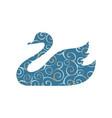 swan bird color silhouette animal vector image vector image