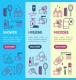 symbol of higiene banner vecrtical set vector image vector image