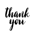 Thank you poster vector image vector image