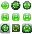 time green app icons vector image vector image