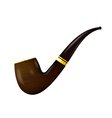 Tobacco pipe on a white background vector image vector image