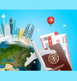 travel destination concept with the bag vector image vector image