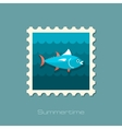 Tuna stamp Fishing Vacation vector image vector image