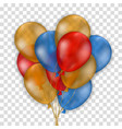 various colorful balloons vector image