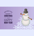 we wish you a merry christmas concept background vector image