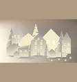 white paper village with glowing light vector image vector image