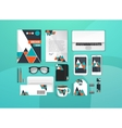 Colorful Corporate identity template set Business vector image