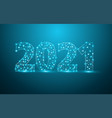 2021 new year text design with mesh stylish vector image