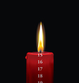 Advent candle red 15 vector image vector image