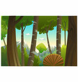 an outdoor in jungle and natural vector image vector image