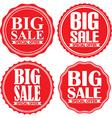 Big sale special offer red label set vector image vector image
